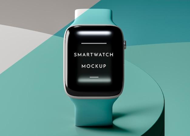 Regeling met moderne smartwatch met schermmodel
