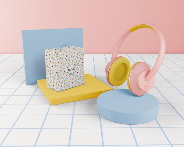 Regeling met roze koptelefoon
