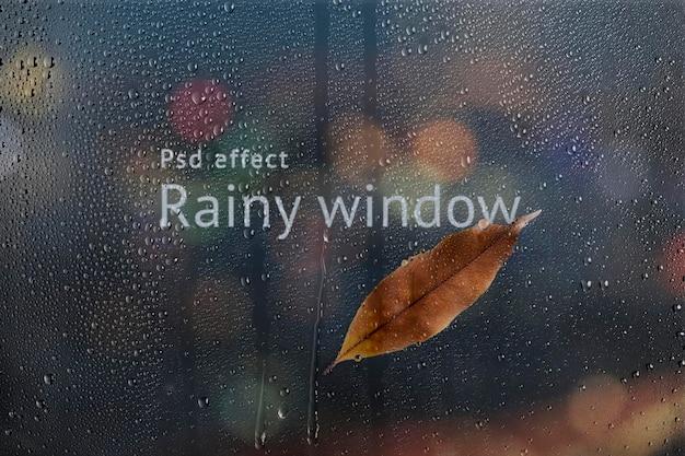 Regenachtig venster psd-effect, eenvoudige overlay-add-on