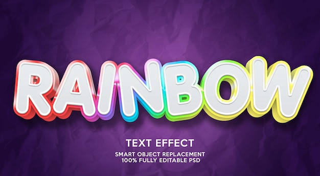 Regenboog teksteffect sjabloon