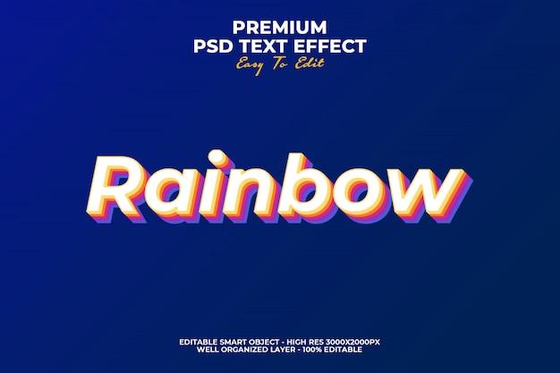 Regenboog teksteffect