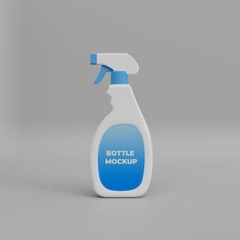 Reinigingsspray 3d mockup-sjabloon