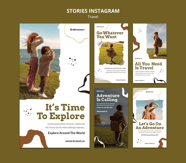 Reis de wereld rond instagramverhalen