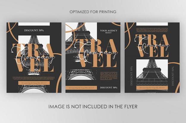 Reisbedrijf flyers-bundel