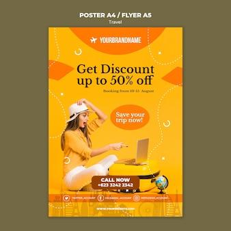 Reisbureau advertentie sjabloon flyer