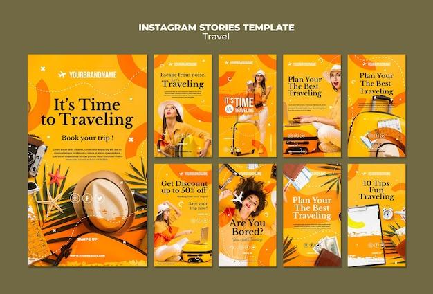 Reisbureau instagram verhalen sjabloon