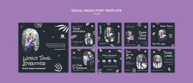 Reisbureau social media postsjabloon