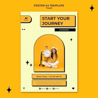 Reizen concept poster sjabloon