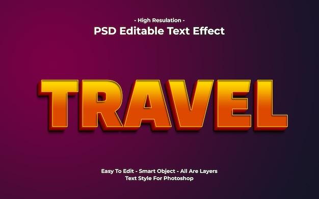 Reizen teksteffect