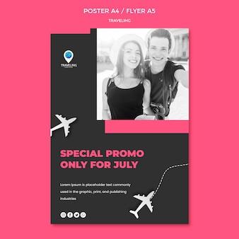 Reizende concept flyer-sjabloon