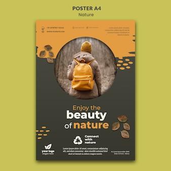 Relájese con la plantilla de cartel de naturaleza