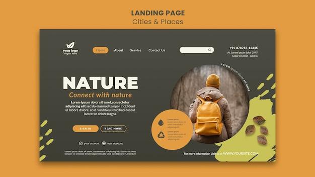 Relájese con la plantilla web de la naturaleza