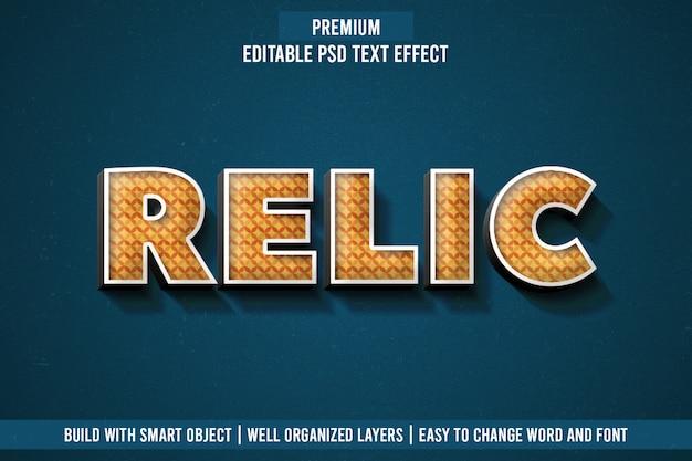 Relic-teksteffect