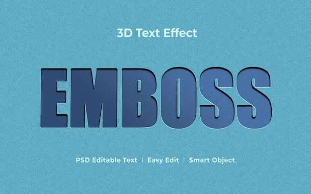 Reliëf 3d-teksteffect mockup-sjabloon