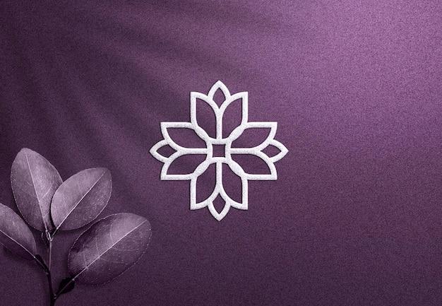 Reliëf logo mockup getextureerd