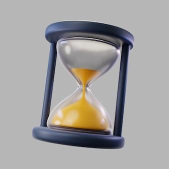 Reloj de arena transparente 3d