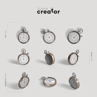 Reloj de medianoche variedad ángulos creador de escena navideña