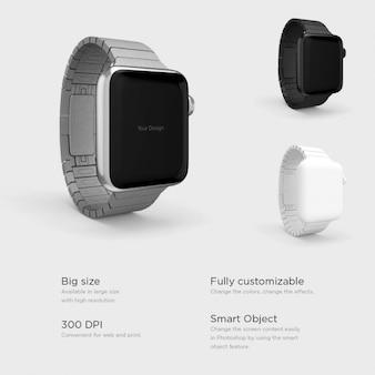Relojes inteligentes con diferentes correas