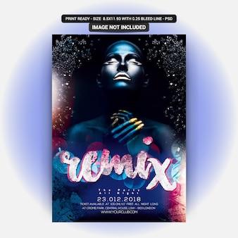 Remix dj sound flyer