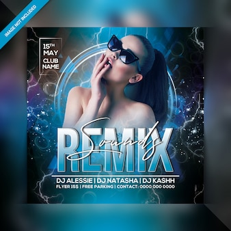 Remix klinkt feestflyer