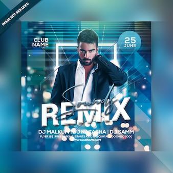 Remix klinkt party flyer