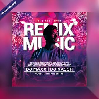 Remix muziekfeest flyer