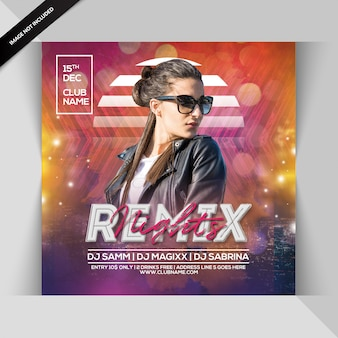 Remix nachtfeest flyer