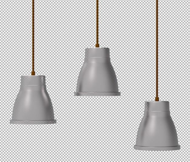 Renda della lampada da soffitto isolata