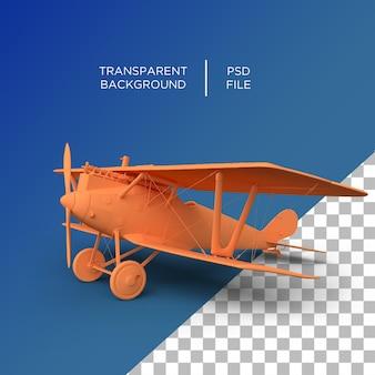Render 3d antiguo avión de aire