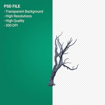 Render 3d de árbol muerto aislado