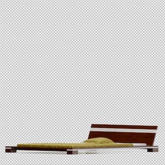 Render 3d de cama isométrica