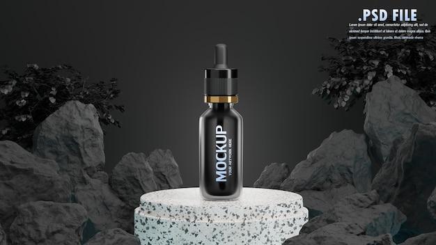 Render 3d de cosmético para maqueta de marca