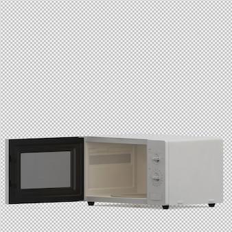 Render 3d isométrico de microondas