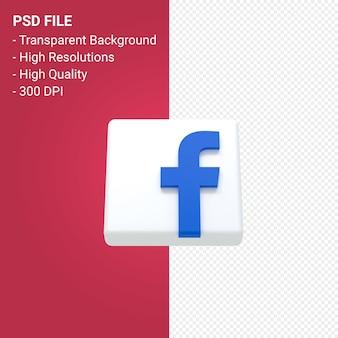 Render 3d del logo de facebook