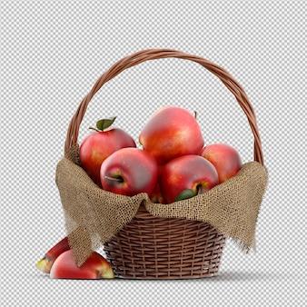 Render 3d de manzanas