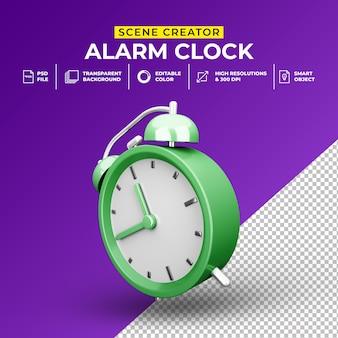Render 3d minimalista plantilla de creador de escena de despertador