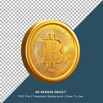 Render 3d-poster blockchain cryptocurrency bitcoin