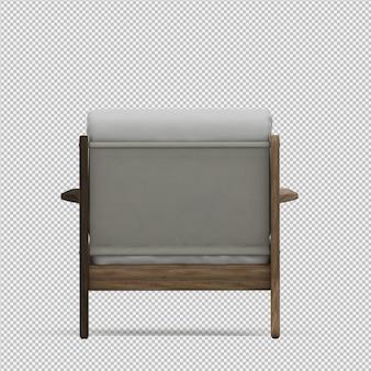 Render 3d de sillón isométrico