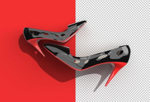 Render 3d de zapatos de mujer clásicos con estilo en high hills.