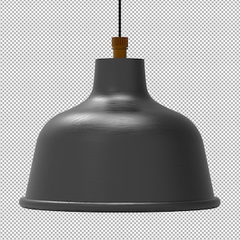 Render van geïsoleerde plafondlamp op transparant
