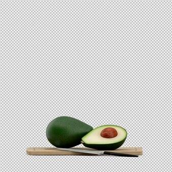 Rendering 3d di avocado