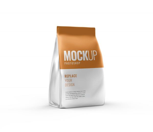 Rendering 3d realistico di mockup di sacchetto di cibo