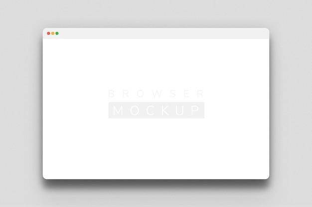 Rendering van mockup-ontwerp van browserscherm