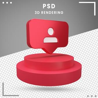 Renderizado 3d rotated logo seguidores instagram