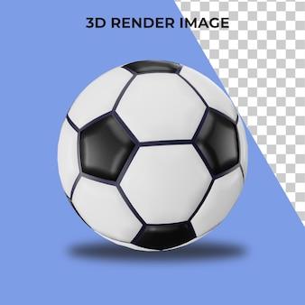 Representación 3d de balón de fútbol psd premium