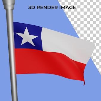 Representación 3d del concepto de la bandera de chile día nacional de chile psd premium