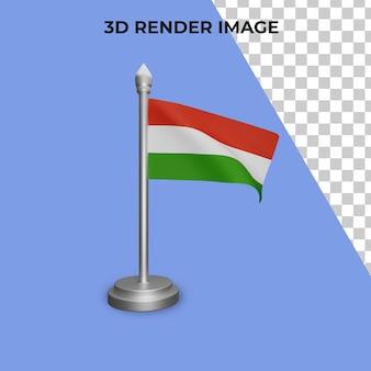 Representación 3d del concepto de la bandera de hungría día nacional de hungría psd premium