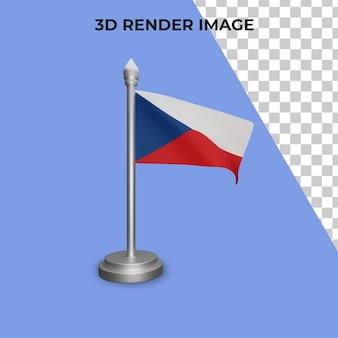 Representación 3d del concepto de la bandera de la república checa día nacional de la república checa psd premium