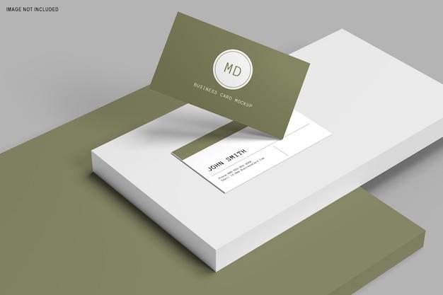 Representación 3d del diseño de maqueta de tarjetas de visita