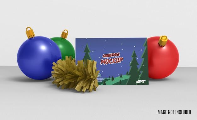 Representación 3d de maqueta de tarjeta de felicitación de navidad